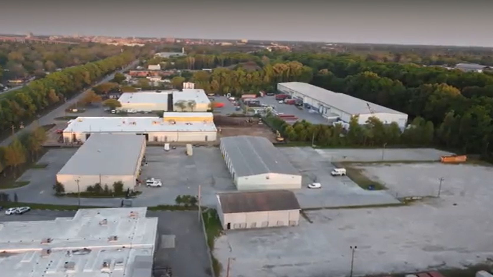 Drone: Expansion at SCAD film studios in Savannah