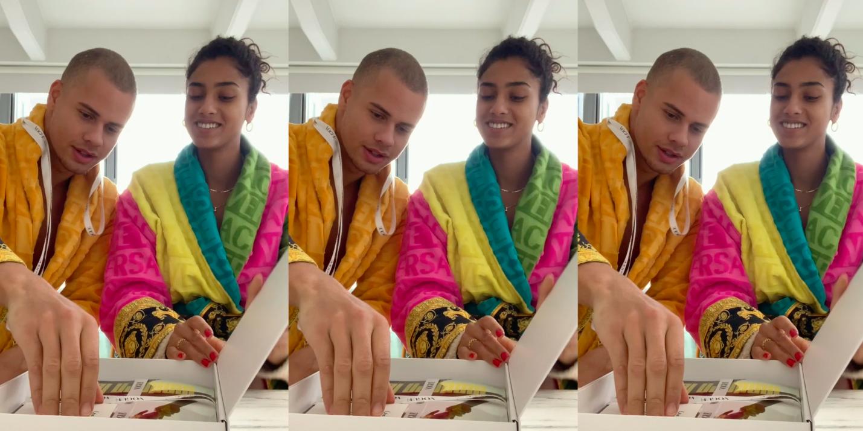 Imaan Hammam en vriend Lentini Eersteling unboxing Vogue Nederland cover