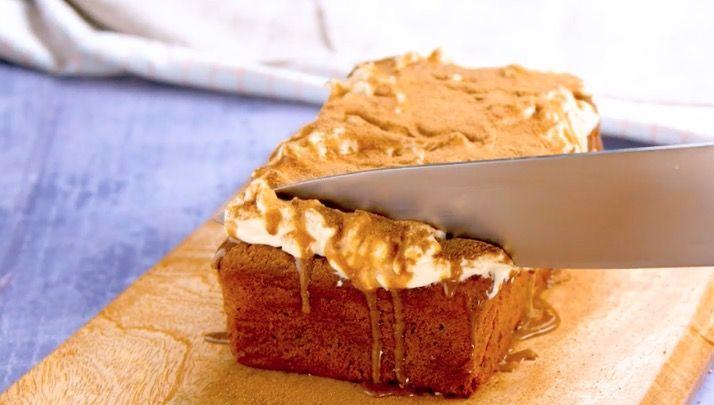 Pumpkin spice latte loaf cake