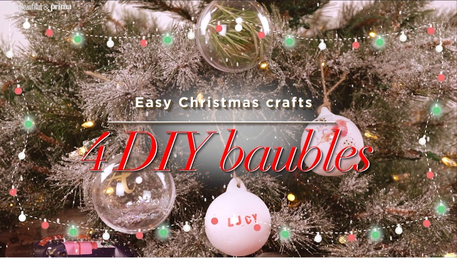 4 Easy Ways To Make Your Own Christmas Baubles - Personalised Christmas Baubles
