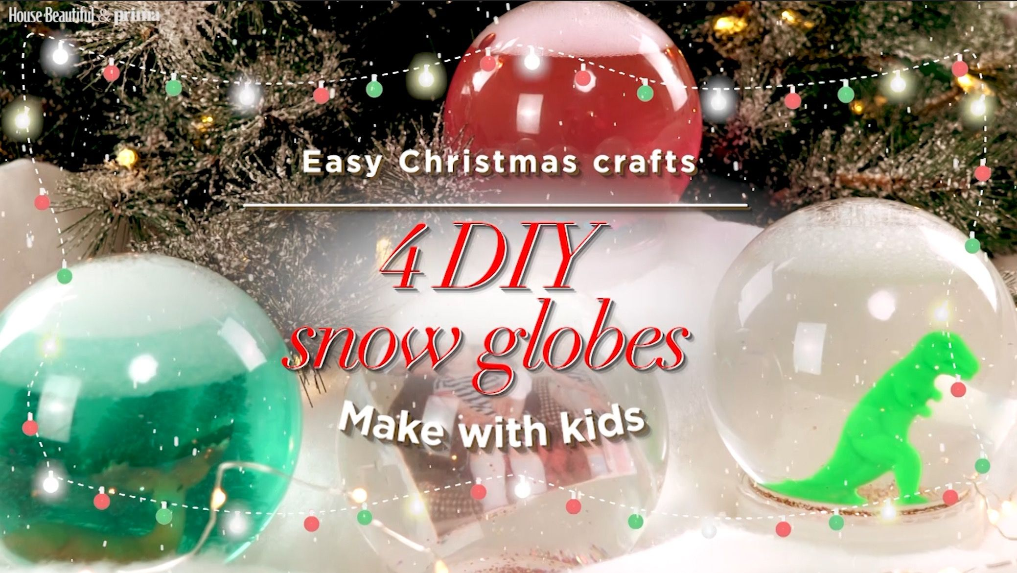 VIDEO: How To Make A Snow Globe - 4 Christmas Crafts For Kids