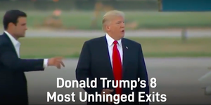 Trump's unhinged exits