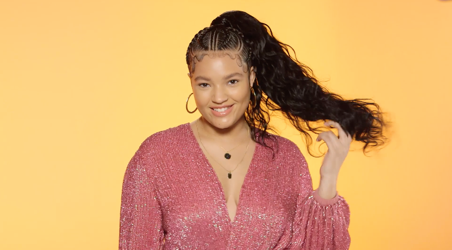 The Braid Up: How to Re-Create This Bomb Braided Weave Ponytail