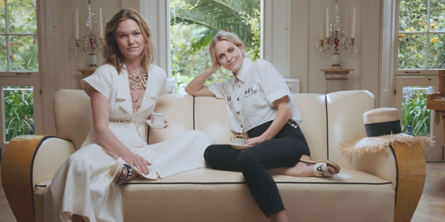 Julia Stiles and Poppy Delevingne talk glamour, fame and working together on Riviera