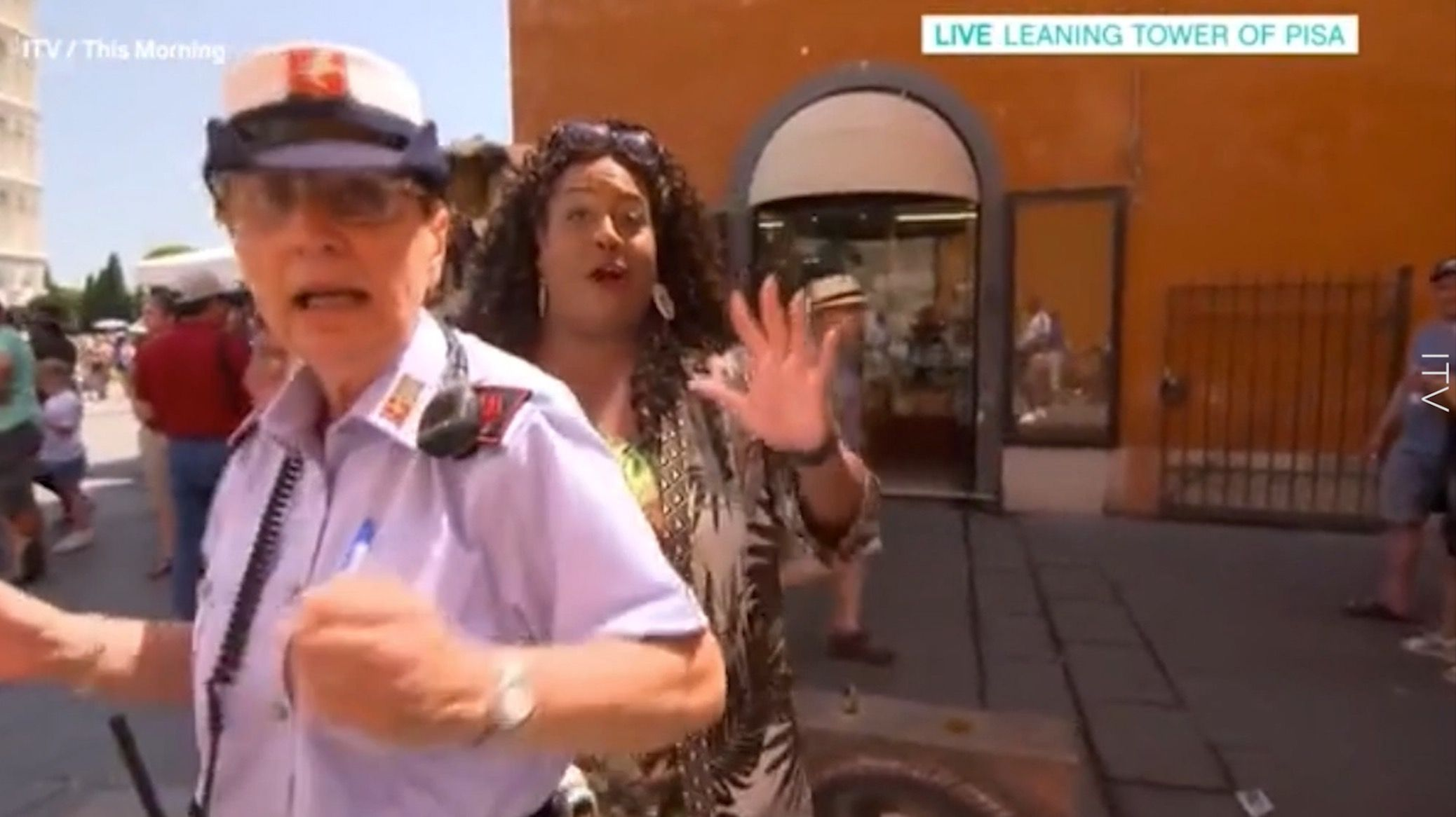 This Morning's Alison Hammond forced to run from Italian police during live segment mistake