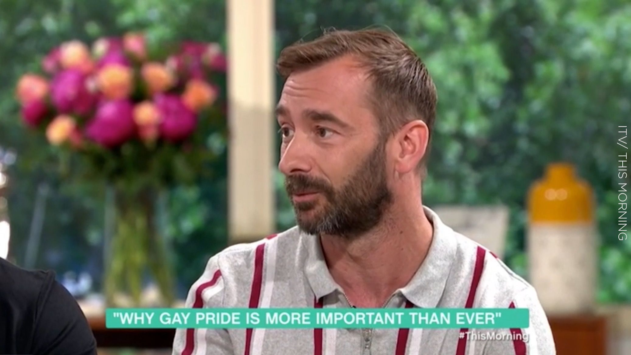 Former Coronation Street star Charlie Condou admits he feels unable to hold husband's hand in public