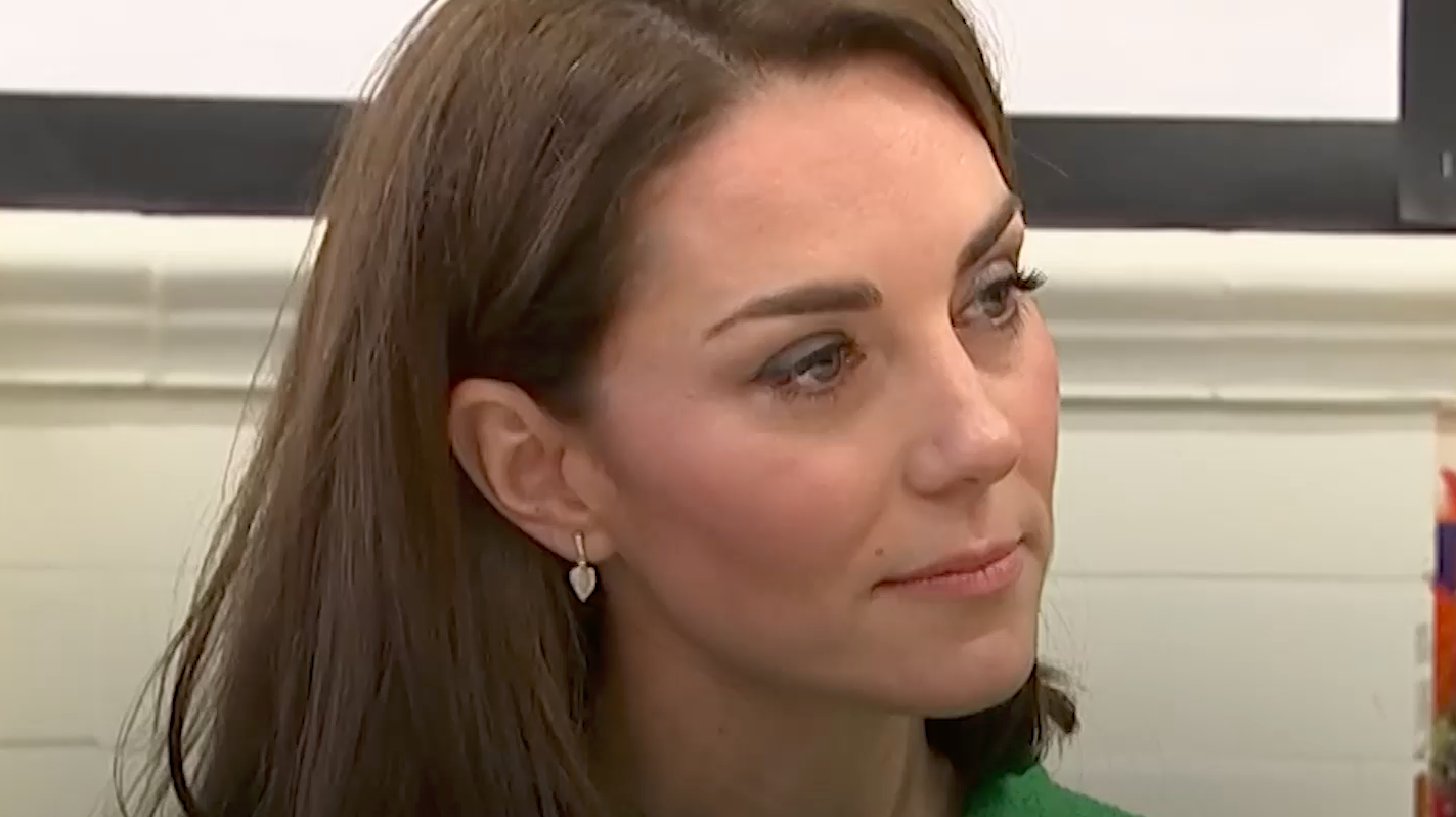 Kate Middleton Gets Physical in a Green Sporty Set and Sleek Sneakers