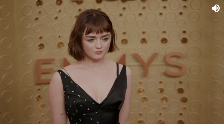 Maisie Williams debuted a chic bob at the 2019 Emmy Awards