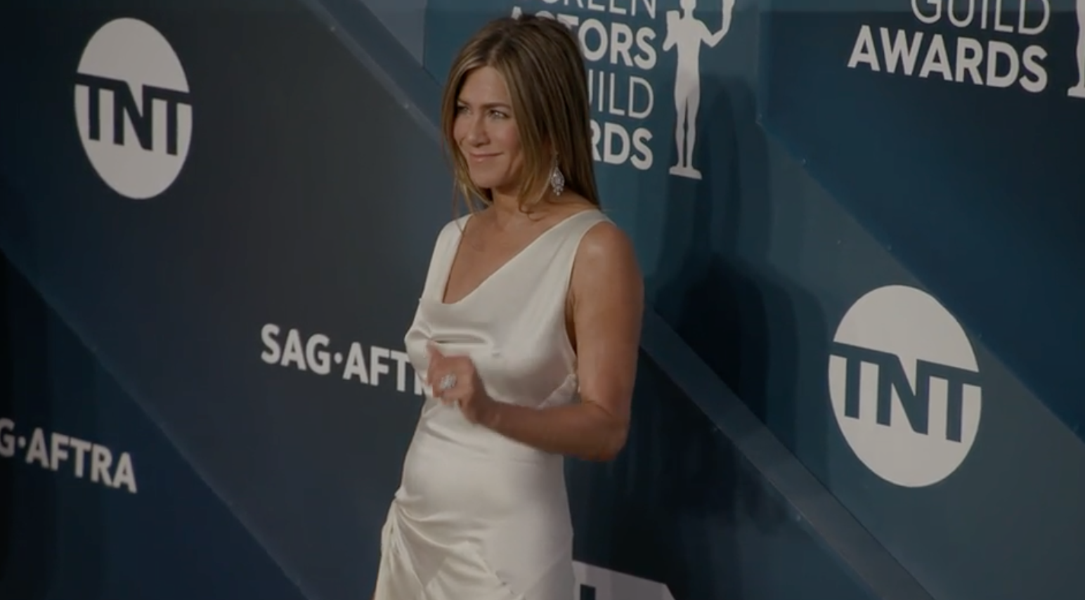 Jennifer Aniston turned to vintage Dior for the SAG Awards