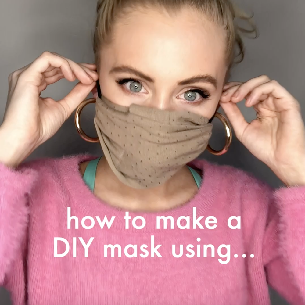 DIY face mask guide: How to make a no sew face mask