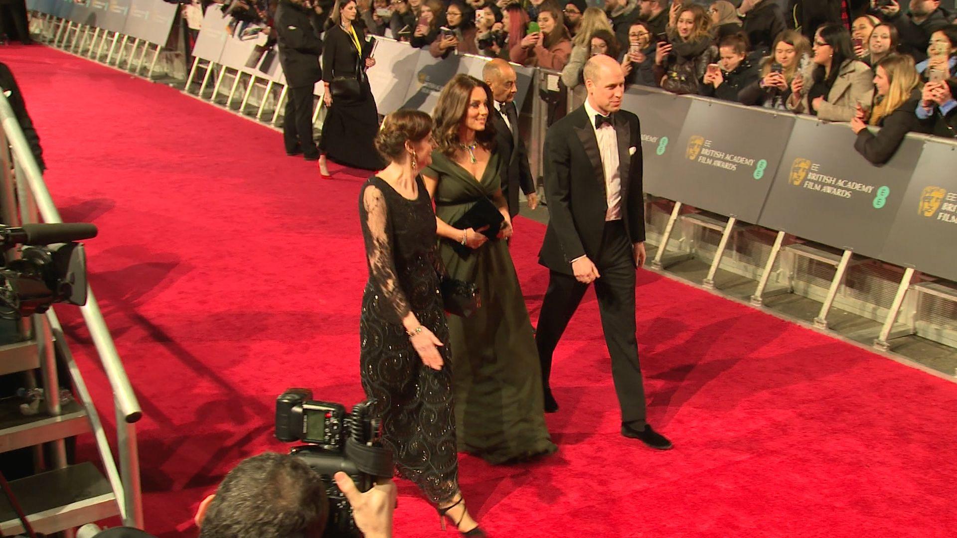Kate Middleton ignores BAFTA black dress code in floaty green dress