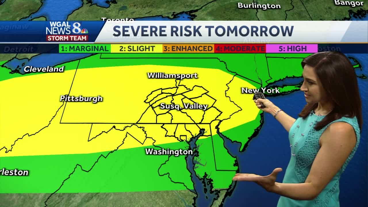 Possible severe weather in the forecast