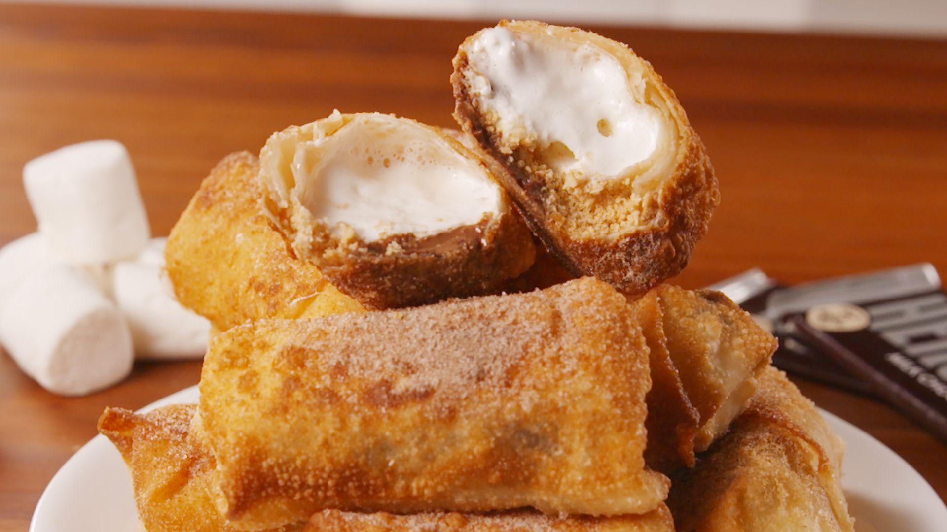 S'mores Egg Rolls