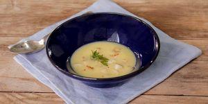 Sopa fría con calamar