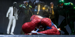 Screengrab from the official gameplay trailer for Marvel's Spider-Man PS4 game.