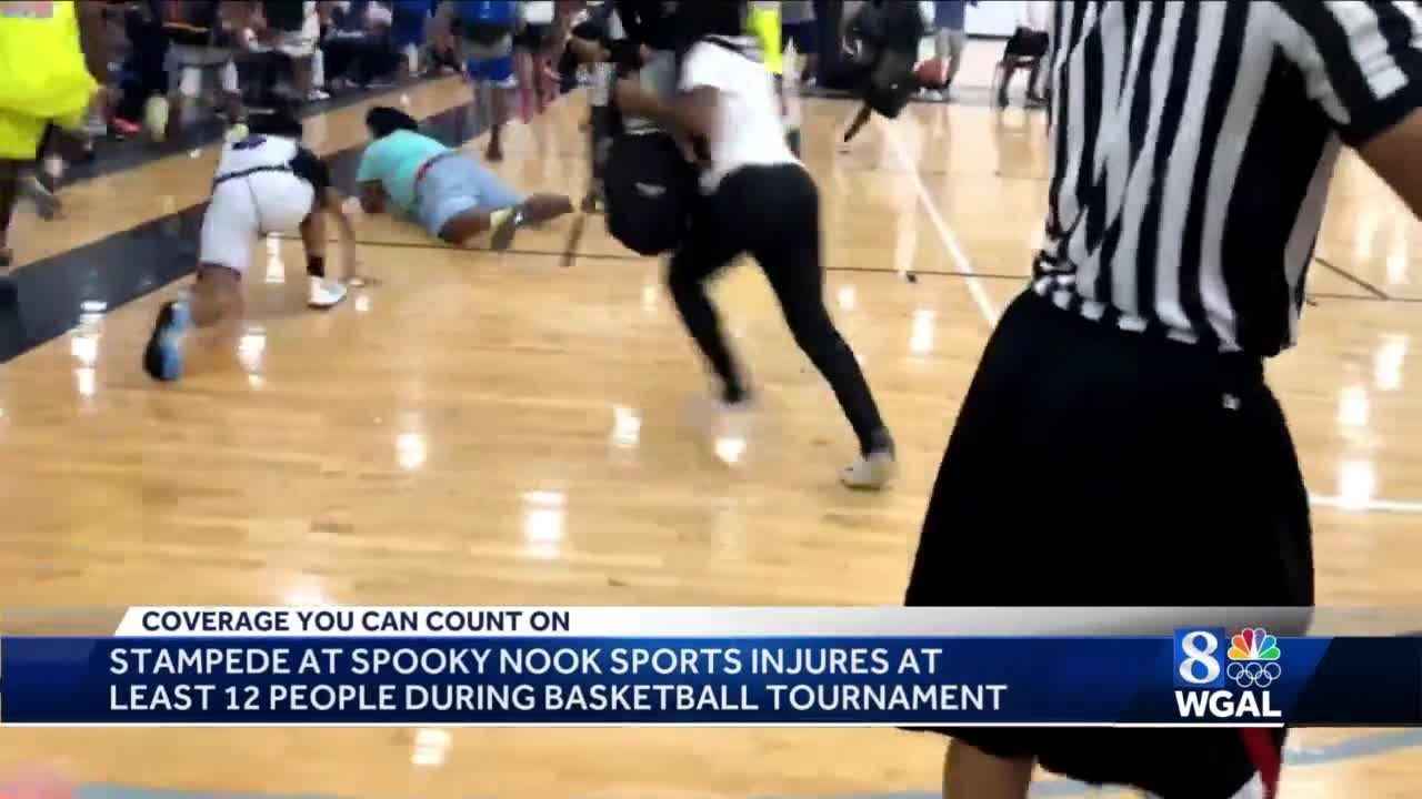 Spooky Nook Sports Complex stampede caught on camera