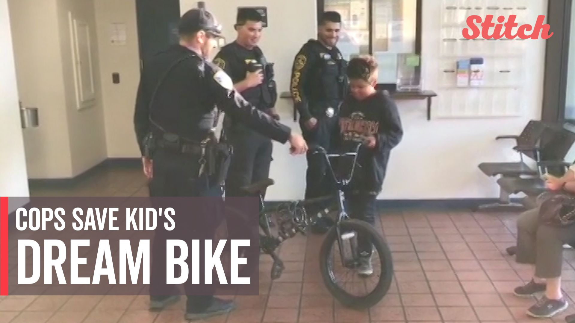 11-year-old boy grateful to police officers for recovering stolen bike