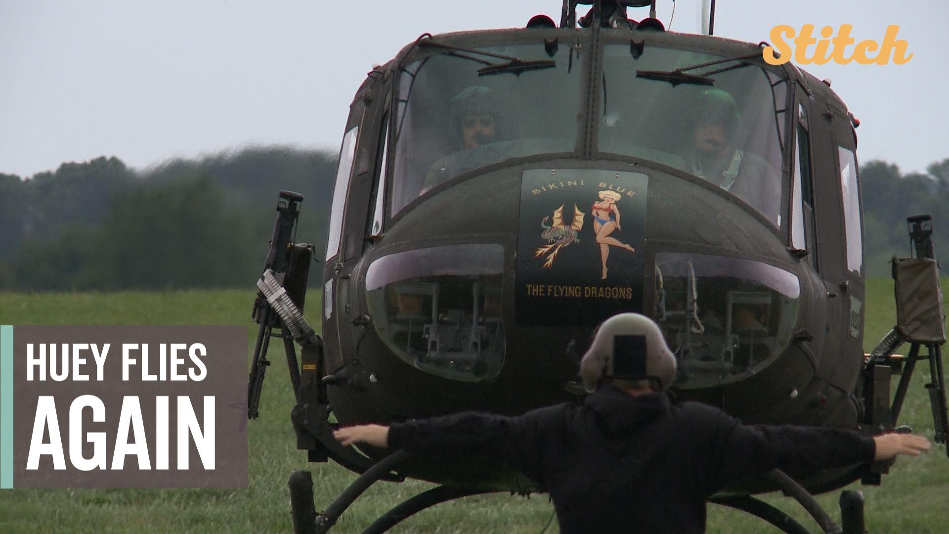 Vietnam War-era helicopter flies again after volunteers help restore it