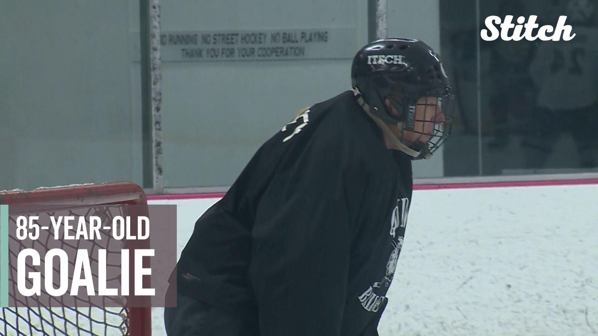 Friends Love Of The Game Keeps 85 Year Old Hockey Goalie Between
