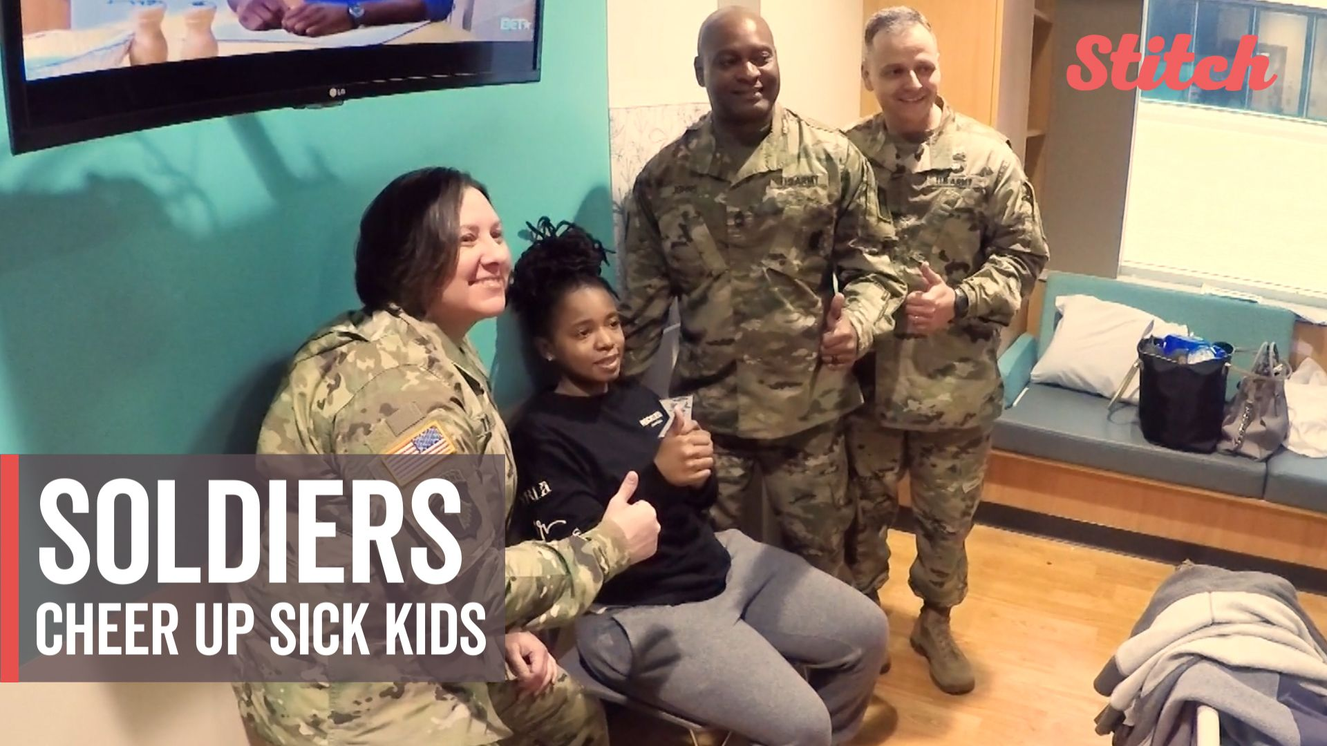 Soldiers deliver gifts, smiles to hospitalized children