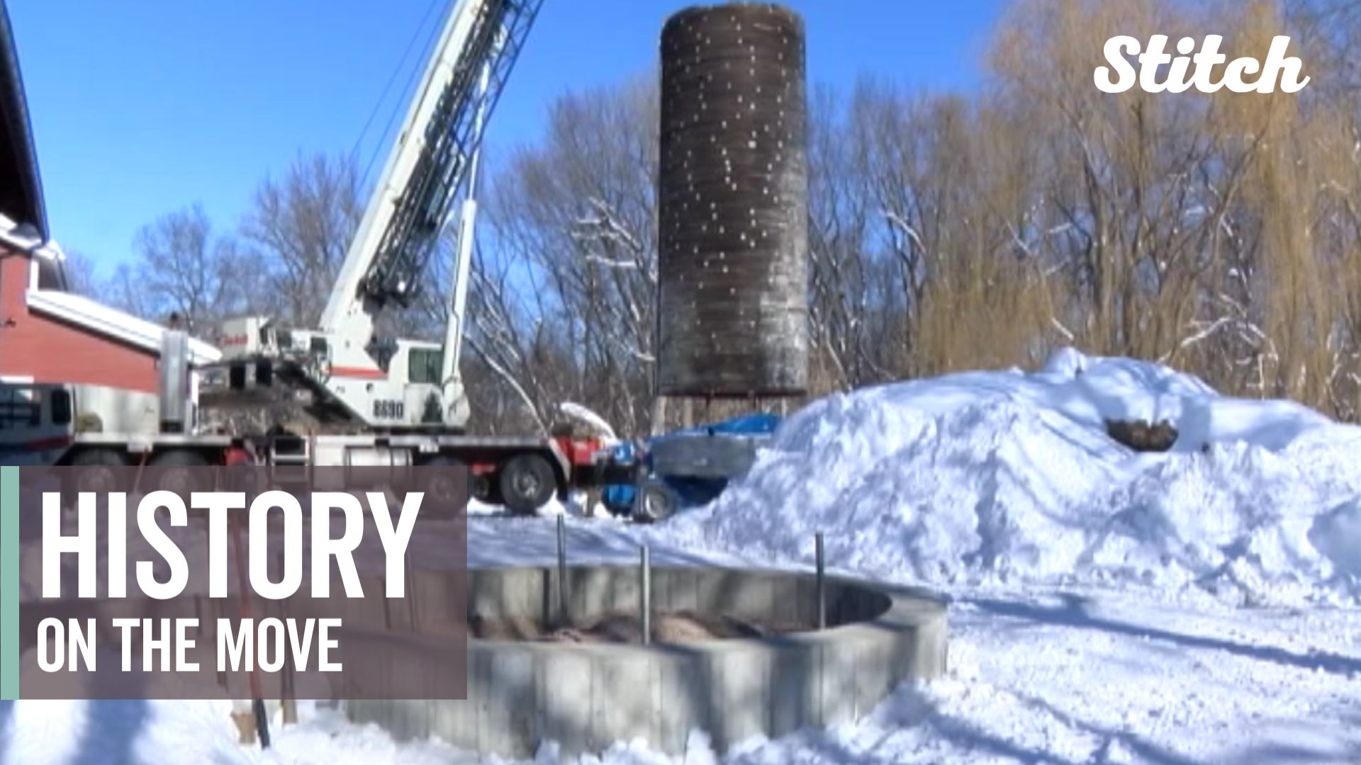 History on the move: Silo built in the 1800's moved to prepare for  restoration