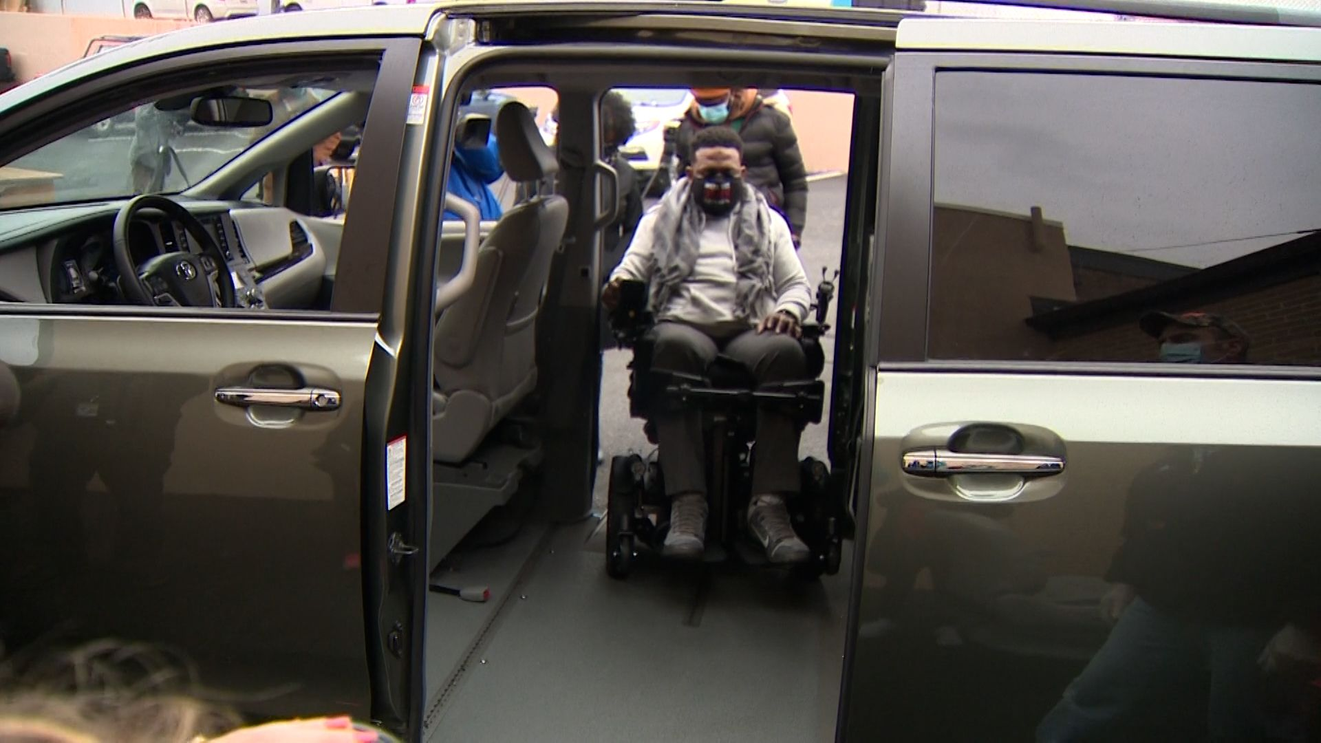 Sergeant who survived shooting surprised with wheelchair-accessible van
