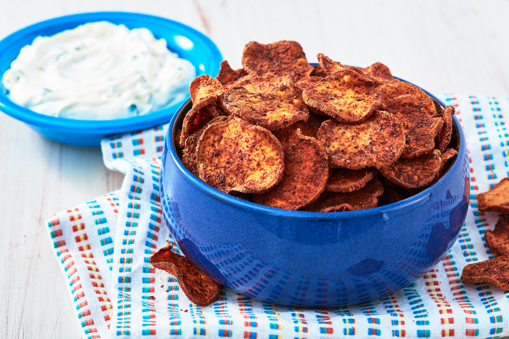 Best Baked Sweet Potato Chips Recipe How To Make Sweet Potato Chips In The Oven Delish Com