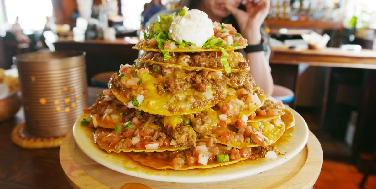 Caliente Cab Makes A 20 Tortilla Taco Tower For 10 People
