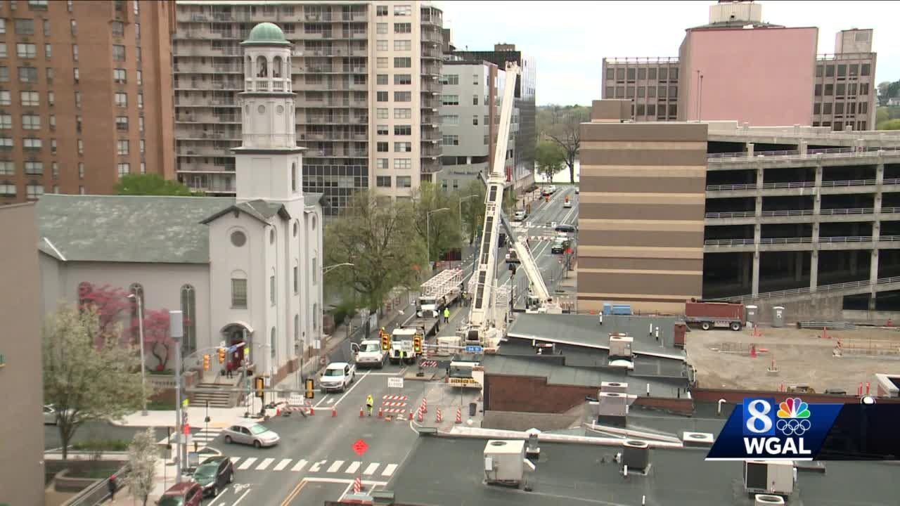 Crews begin assembling tower crane in Harrisburg