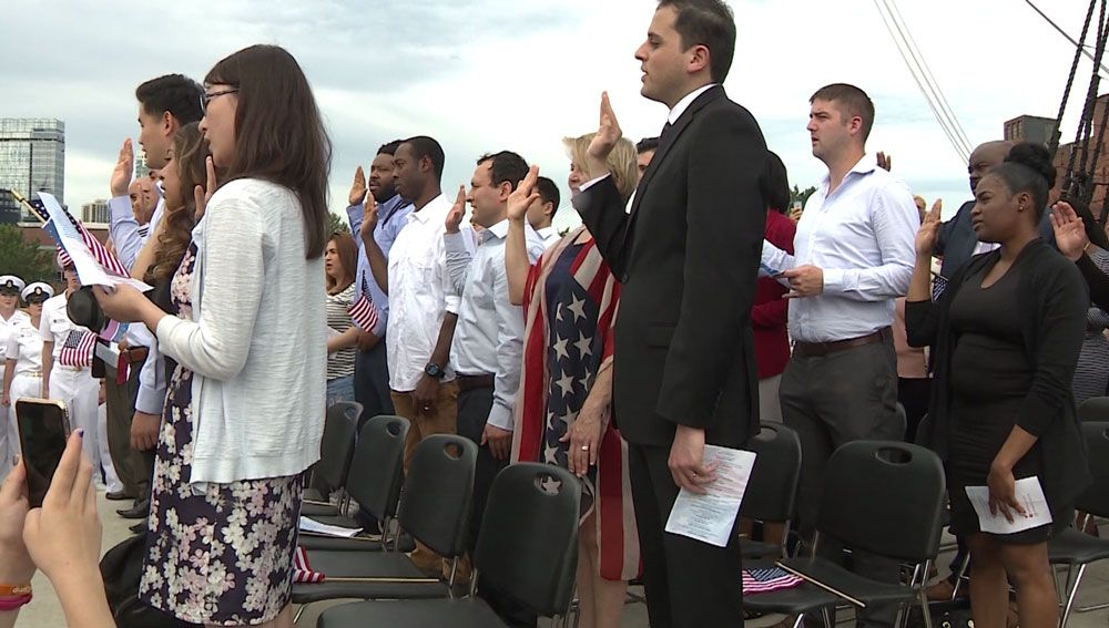 Emotional, patriotic ceremony held aboard USS Constitution
