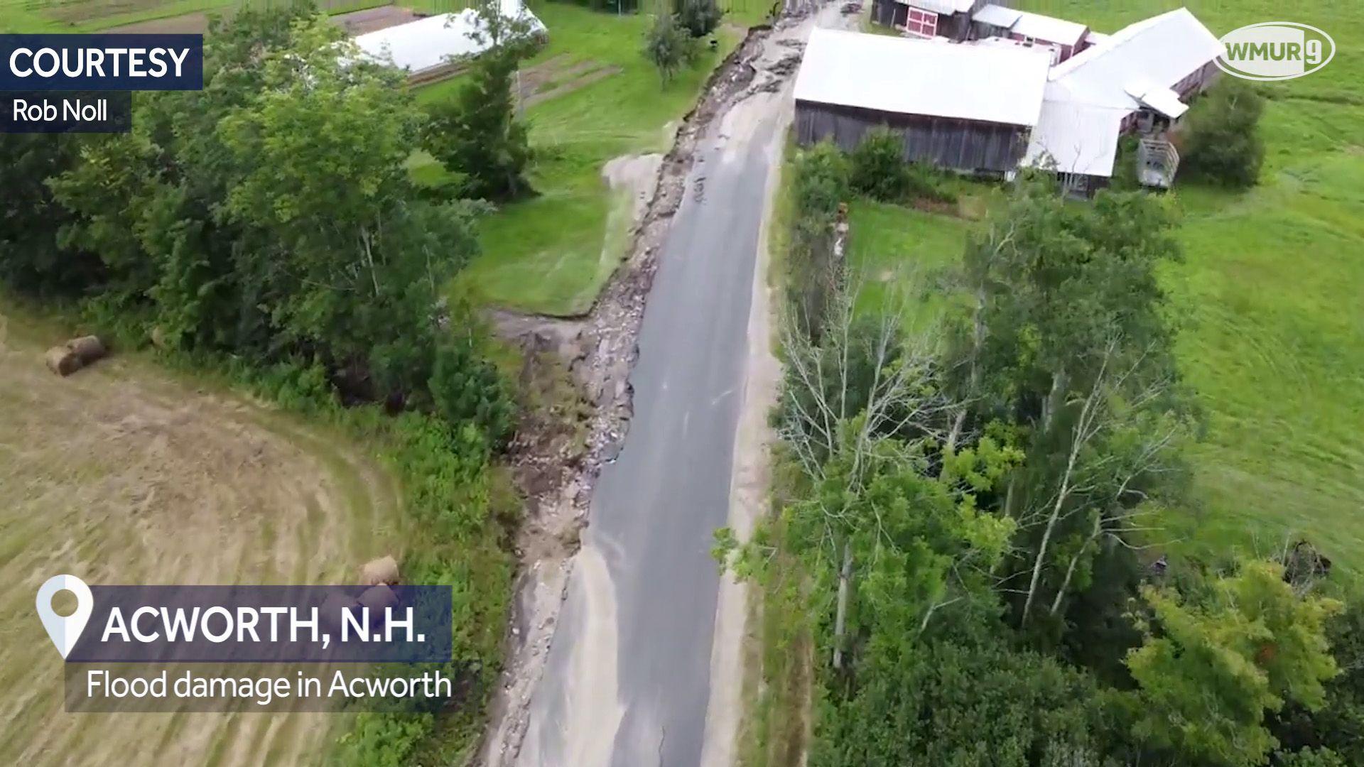 DRONE VIDEO: Flood damage in Acworth