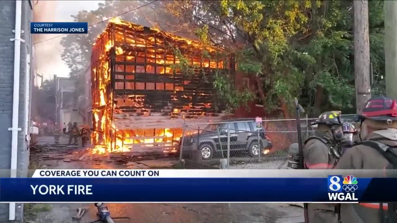 Investigators: Fireworks to blame for fire that heavily damaged five buildings in York