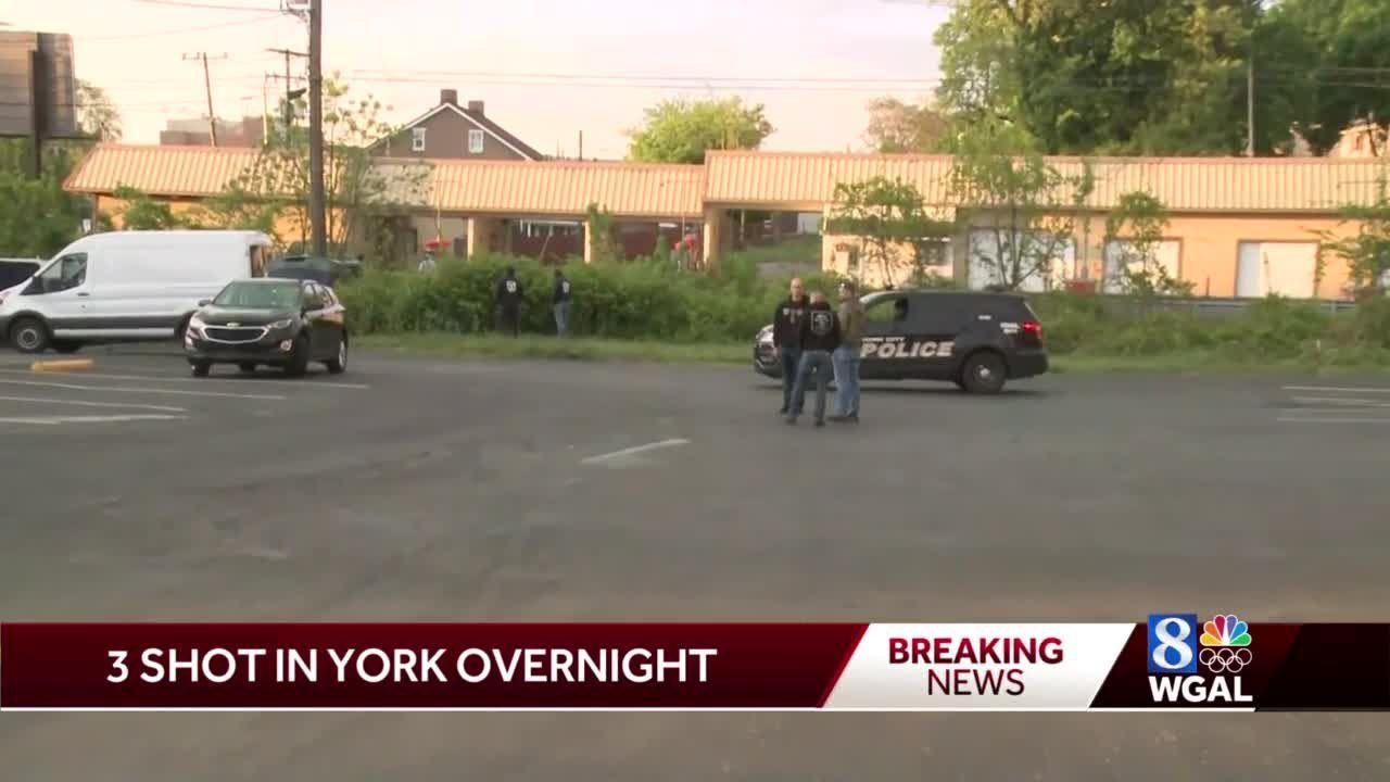 Three people shot overnight in York