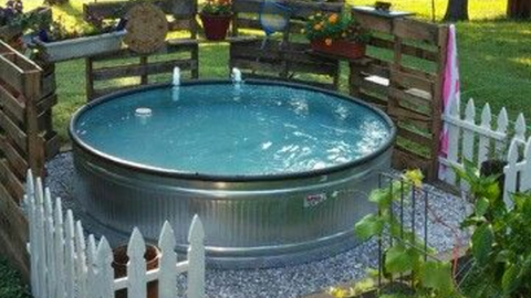 Stock Tank Swimming Pool Ideas How To Make A Pool From A Stock Tank