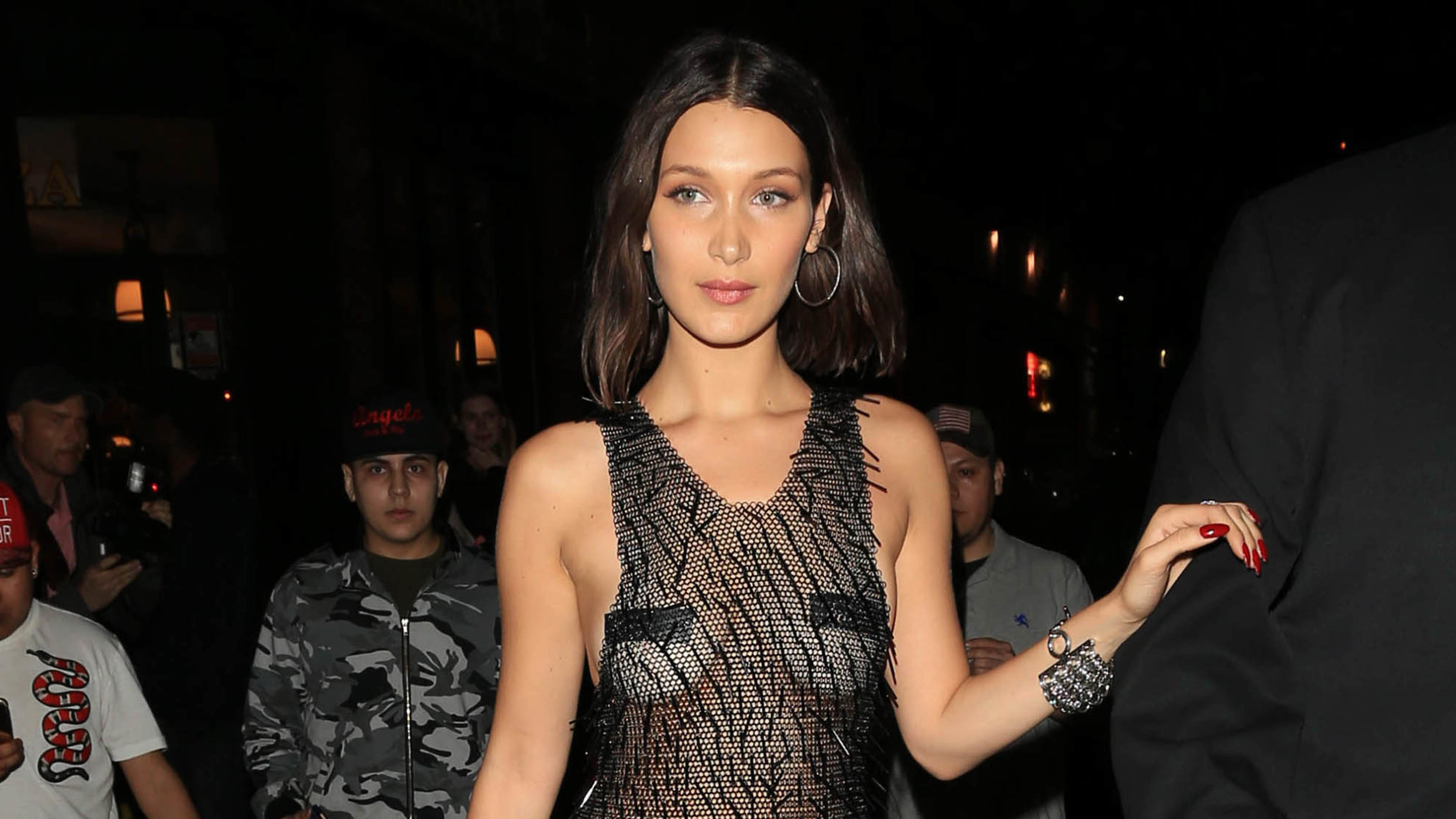 Bella Hadid Channeled Princess Leia, Marge Simpson, and a Giant Snowball in a Single Day at PFW
