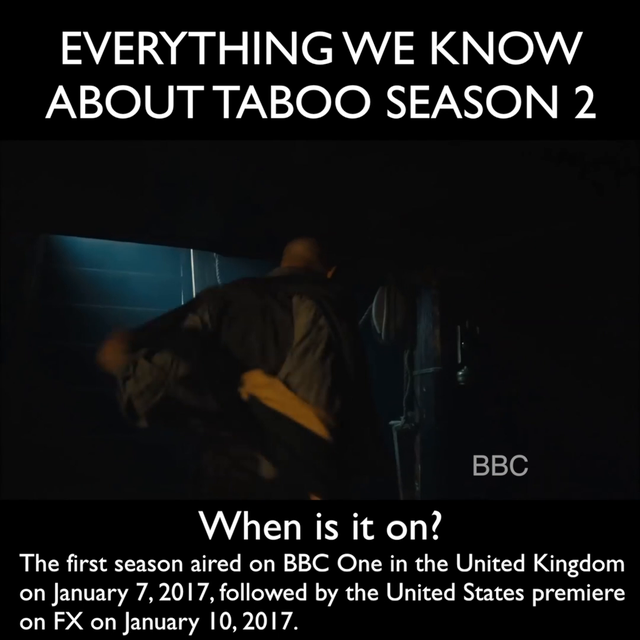 Taboo season 2 release date, episodes, cast and plot