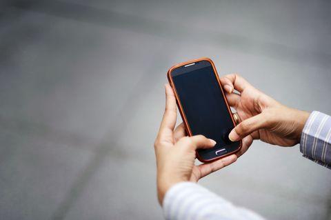 iphone in hands