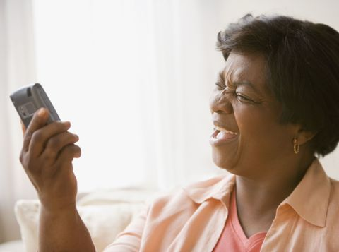 Woman Annoyed with Phone