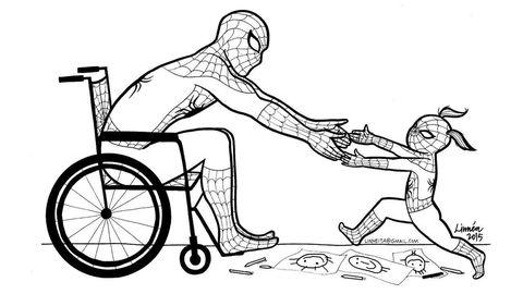 Spiderman in Wheelchair