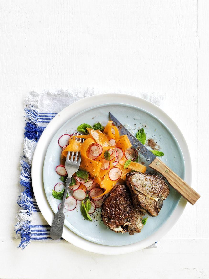 Cumin-Spiced Lamb with Carrot and Radish Salad