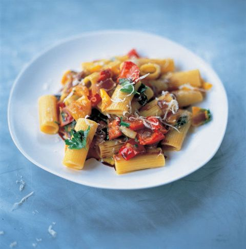 Easy-to-grow peppers add zip to pasta.
