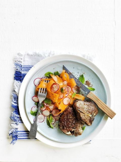 Heart Healthy Recipes - Cumin-Spiced Lamb with Carrot and Radish Salad