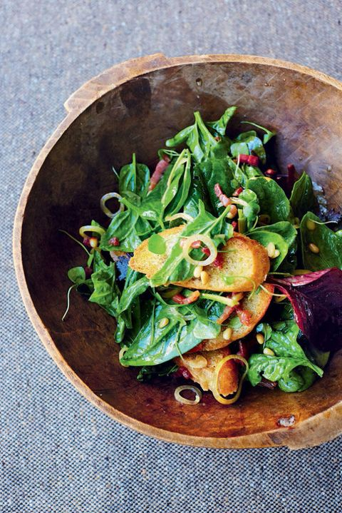 Spinach Bacon And Pine Nut Salad Recipe