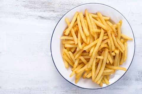 Yellow, Food, Wood, Fried food, White, Line, Cuisine, Side dish, Black, French fries,
