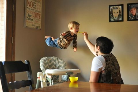 Table, Room, Child, Sitting, Picture frame, Toddler, Varnish, Living room, Balance,