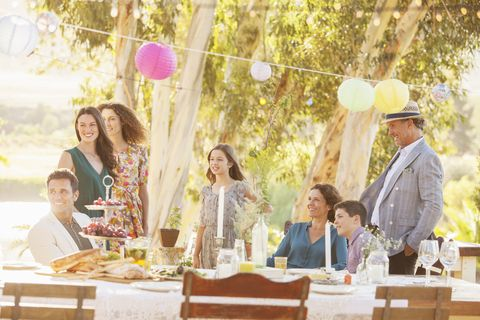 Table, Furniture, Hat, Fashion accessory, Sharing, Drink, Sun hat, Balloon, Cuisine, Tablecloth,
