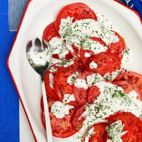 bbq side dishes - Tomatoes with Green Goddess Dressing