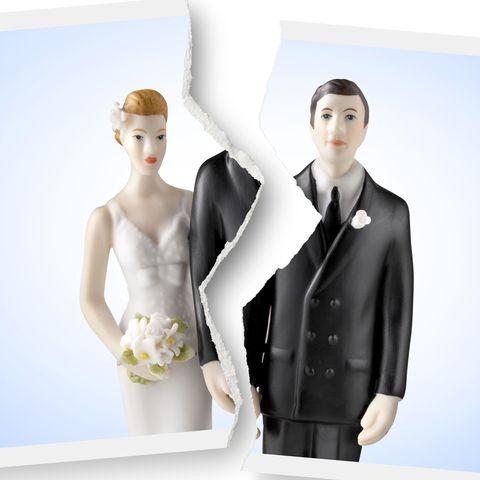 Divorce bride and groom photo