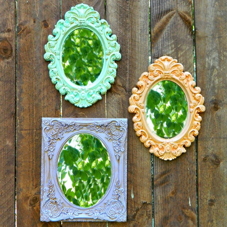 """Cheesy plastic frames get a charming old-world look when painted in chalk paint (a cure-all for many DIY projects).  <a target=""""_blank"""" href=""""http://markmontanoblogs.blogspot.com/2014/09/dollar-store-frame-makeovers.html""""><em>Get the tutorial at Mark Montano »</em></a>"""