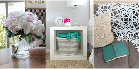 Petal, Room, Flower, Teal, Pink, Turquoise, Aqua, Interior design, Purple, Serveware,